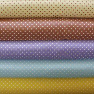 Spotty cotton fabrics